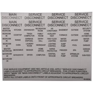 Eaton CHBL Circuit Breaker Label Sheet