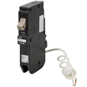 Eaton CHFGFT120 Breaker, 20A, 1P, 120V, 10 kAIC, Type CH, Ground Fault