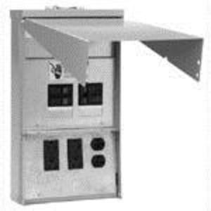Eaton CHU1N7NS Power Outlet Panel, 50A, 125/250VAC, 3P, 4W, Surface Mount, NEMA 3R