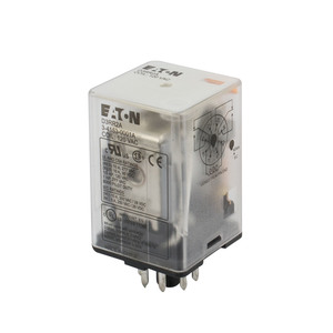 Eaton D3RR2A Relay, 120VAC Coil, DPDT, 10A, 8-Pin, Plug -In Style