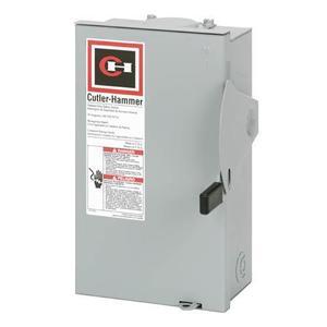 Eaton DG221NRB Safety Switch, 30A, 2P, 240V, Type DG, Fusible, NEMA 3R