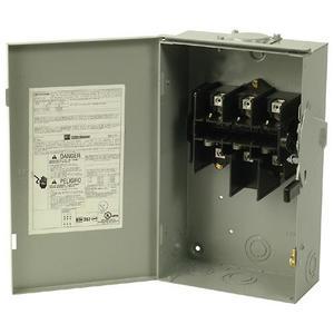 Eaton DG223URB Safety Switch, 100A, 2P, 240V, Type DG, Non-Fusible, NEMA 3R