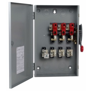 Eaton DG324NGK Safety Switch, 200A, 3P, 240V, Type DG, Fusible, NEMA 1