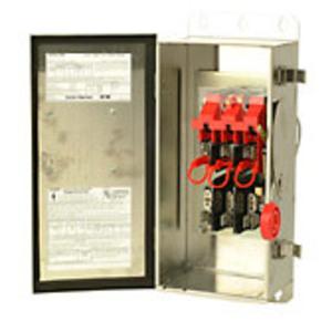 Eaton DH261FWK Safety Switch, 30A, 2P, 600V/600DC, HD Fusible, NEMA 4X