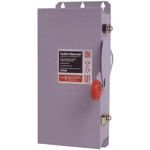 Eaton DH262URK Safety Switch, HD, Non-Fusible, 2P, 2 Wire, 60A, 600VAC, NEMA 3R