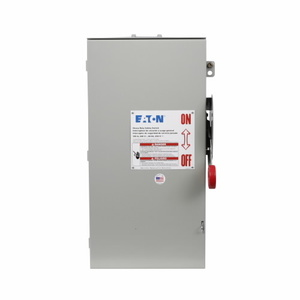 Eaton DH263URK Safety Switch, HD, Non-Fusible, 2P, 2 Wire, 100A, 600VAC, NEMA 3R