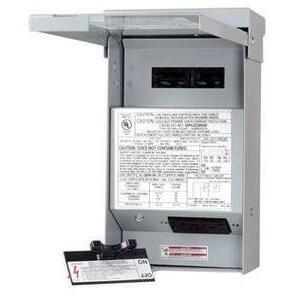 Eaton DPU222RGF20WTST Disconnect Switch, AC, 60A, 2P, 120/240V, GFCI, Pull-Out, Metallic