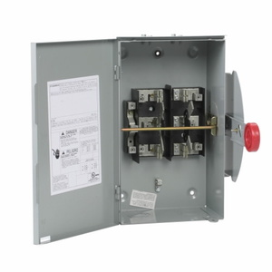 Eaton DT222URH Safety Switch, Double Throw, 60A, 2P, 240VAC, Non-Fused, NEMA 3R
