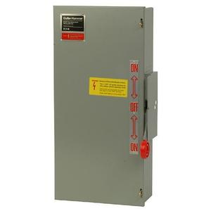 Eaton DT323FRK Safety Switch, Double Throw, Heavy Duty, 100A, 240VAC, NEMA 3R
