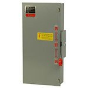 Eaton DT365FGK Safety Switch, Double Throw, Heavy Duty, 400A, 600VAC, NEMA 1