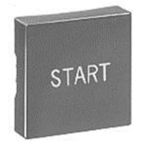 Eaton E30KA180 Multifunction Pushbutton Operator, Button Only, Short, Black, START