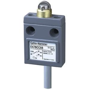 Eaton E47BCC08 Limit Switch, Compact, Prewired, Sealed Roller Plunger, Compact
