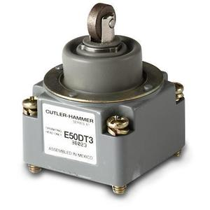 Eaton E50DT3 Limit Switch, Head, Top Push Roller, Plugs into switch body.