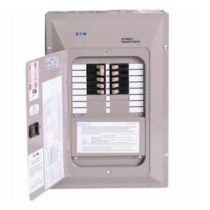 Eaton EGSX50L12 Standard Automatic Transfer Switch, 50A, 120/240V, 12 Circuit Sub-Panel