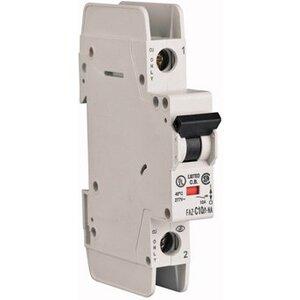 Eaton FAZ-C10/1-NA-SP Breaker, DIN Rail Mount, 10A, 1P, 277/480VAC, 48VDC, 10 kAIC