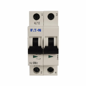 Eaton FAZ-C2/2-NA 2A, 2P, 277/480V, 48VDC, 10 kAIC, C-Curve, UL 489 CB
