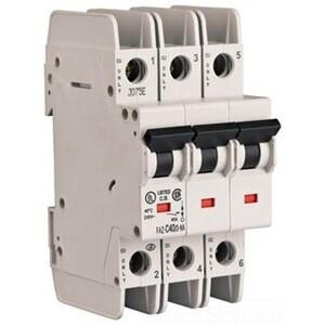 Eaton FAZ-C25/3-NA Breaker, DIN Rail Mount, 25A, 3P, 277/480VAC, 48VDC, 10 kAIC