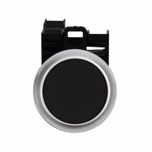 Eaton M22-D-S-K11-P Push Button, Flush, Black, 22.5mm, 1NO/NC Contact, Non-Metallic