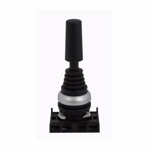 Eaton M22-WJ2V Joy Stick, 2 Position, Vertical, Momentary, Silver Bezel, 22.5mm