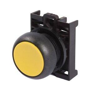 Eaton M22S-D-Y Flush Pushbutton, Yellow, M22