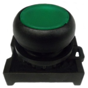 Eaton M22S-DL-G Flush Pushbutton, Green, M22