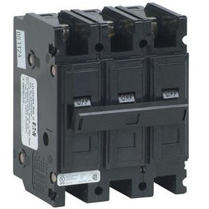 Eaton QC3050H Breaker, Lug in/Lug Out, 3P, 50A, 240VAC, 10kAIC