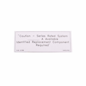 Eaton SRL C-h Srl Rated Caution Label