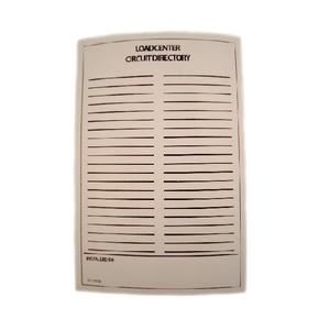 Eaton TCD Circuit Directory, Adhesive Backed