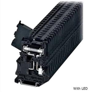 Eaton XBUT6FBNL250 Terminal Block, Fuse Holder, 8.2mm, Black, 110-250V LED Indicator