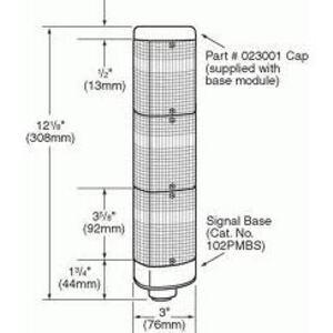 "Edwards 102PMBS-N5 Mini Base for 3/4"" Conduit Mounting of Signal Light, 120VAC, 24VDC"