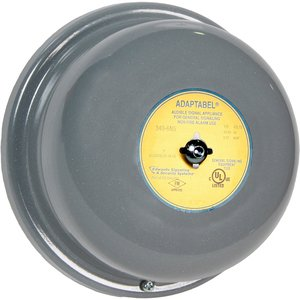"Edwards 340-6N5 Vibrating Bell, 120 VAC, 6"", Surface Mount, Gray"