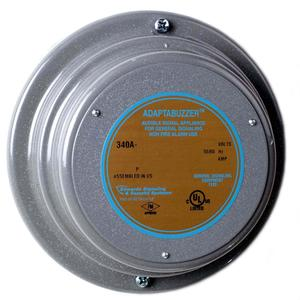 Edwards 340A-G5 Vibrating Buzzer, Heavy Duty, 24VAC, 0.250A, 70dB, Diameter: 5-1/6""