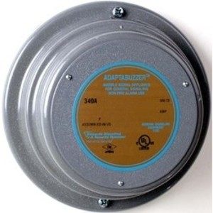Edwards 343A-P1 Buzzer, Type: Vibrating, 125V DC, 0.70A, Corrosion Resistant Finish