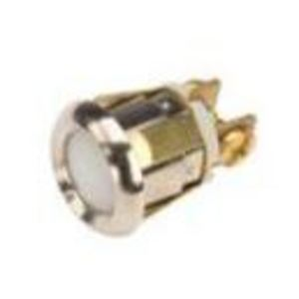 "Edwards 690-W Panel Mount Push Button, 12V, 10A, 5/8"", White"