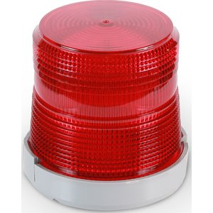 Edwards 96BR-N5 Beacon, Type: Xenon Flashing, 120V AC, 0.1A, Red, Non-Metallic