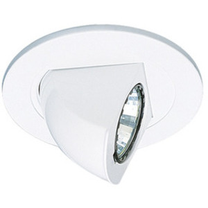 "Elco Lighting EL1497W Low Voltage Trim, Adjustable, 4"", White"