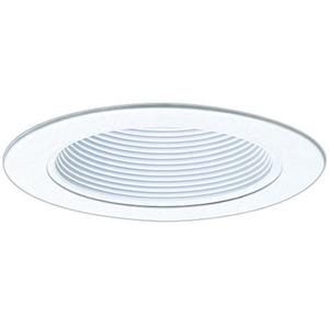 "Elco Lighting EL993W Phenolic Baffle with Metal Ring, 4"", White"