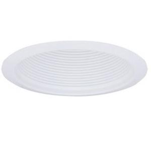 "Elco Lighting ELM300W 6"" Airtight Metal Baffle Cone, White Baffle, White Ring"