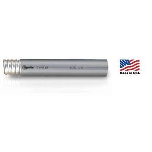 "Electri-Flex 80101 Liquidtight Flexible Steel Conduit, Type EF, 3/8"", Gray, 100'"
