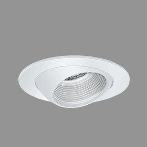 "Elite Lighting B1304W-WH 3"" Eyeball with Baffle, White"