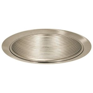 "Elite Lighting B530SN-SN Baffle Trim, 5"", Satin Nickel Baffle and Trim"