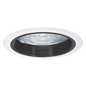 "Elite Lighting B536WH Baffle Trim, 5"", White, Fresnal Lens"