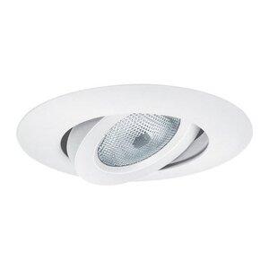 """Elite Lighting B663W-WH Sloped Ceiling Gimbal Ring Trim, 6"""", White"""