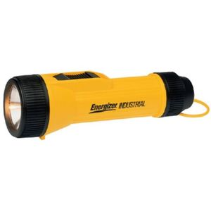 Energizer 1251L LED Flashlight, Industrial Economy, Yellow, (2) D Batteries