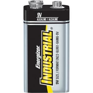 Energizer EN22 Alkaline Battery, 9 Volt, 600 mAh at 25 mA