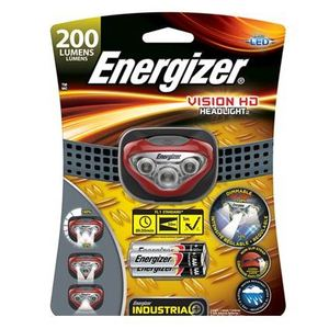 Energizer HDBIN32E LED Headlamp, Plastic, 200 Lumens, Red