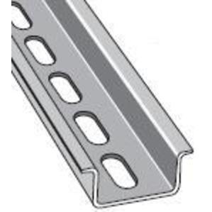 Entrelec 010159826 DIN Rail, Slotted, Zinc Plated Steel, 35mm x 15mm x 2m