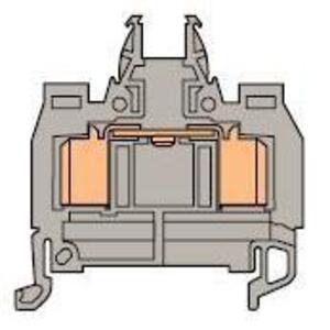 Entrelec 019905126 Terminal Block, Insulation Displacement, 6mm, Type: D 1,5/6.ADO