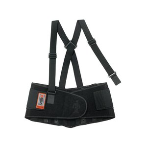 Ergodyne 11284 High-Performance Back Support Belt, Black - Large