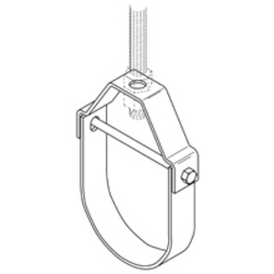 """Erico Caddy 1000200EG Pipe Hanger, 2"""" Pipe or 3/8"""" Rod, Steel"""